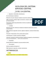 Farmacologia Del Sistema Nervioso Central Toodoo
