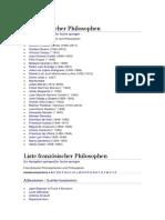 Liste Philosophen