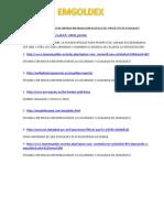Lista de Paginas Para en Encontrar Informacion Hacerca Del Proyecto de Emgoldex