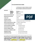 Acta de Recepcion de Obra Puente Mal Paso
