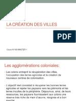 COURS 06 La Création Des Villes