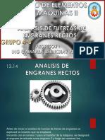Tema 3 - Grupo 4b - 13-14 Analisis de Fuerzas de Engranes Rectos
