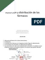 Absorción y distribución farmacología