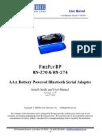 F IRE F LY BP RN RN-270 & RN-274