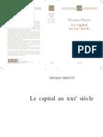 Premier chapitre de Picketty  - Capital au XXIe s