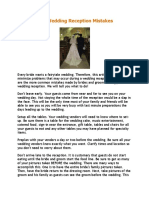 10 Common Wedding Reception Mistakes
