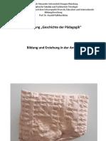 Vorlesung Antike SoSe 2018