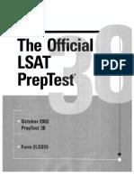 LSAC - LSAT PrepTest 38 (, LSAC).pdf