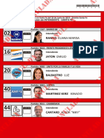 Candidatos a Intendente