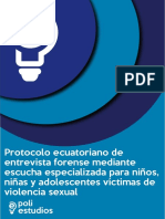 Protocolo Ecuatoriano de Atención de Victimas de Abuso Sexual