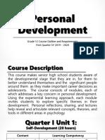 Personal Development Intro