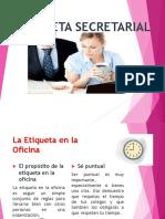 Etiqueta Secretarial