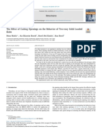 The Effect of Cutting Openings on the Behavior of Two-way Solid Loaded Slabs