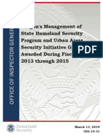 U.S. Department of Homeland Security, OIG Audit