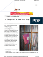 10 Things Not to Do to Your Vinyl Records