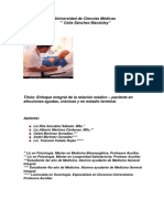 Relacion Medico a Paciente Diversas Afecciones