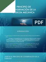 Principios de conservacion de la energia mecanica