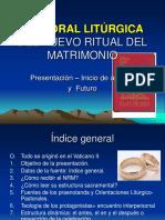 PASTORAL LITÚRGICA DEL NUEVO RITUAL DEL MATRIMONIO