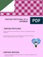 Identidad Profesional de La Enfermera
