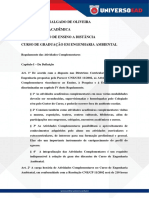 Regulamento de Atividades Complementares - Eng. Ambiental