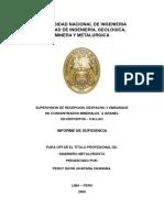 SUPERVISION DE  RECEPCION,  DESPACHO  Y  EMBARQUE DE  CONCENTRADOS  MINERALES   A GRANEL   EN DEPOSITOS  –  CALLAO