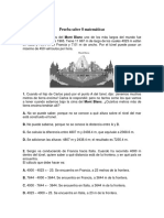 Prueba Saber Matematicas 8