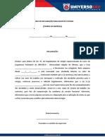 Declaração de Conclusão de Estágio Supervisionado
