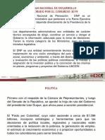 Resumen Plan Nacional Desarrollo
