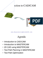 Introduction to CAD CAM MasterCAM