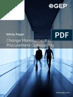 Change Management Procurement Outsourcing
