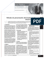 Método de Presentación Del Estado de Flujo de Efectivo Nic Sp 2