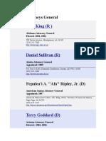 Attorney Generals List