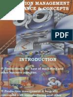 Production Management --Importance & Concepts