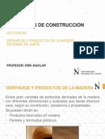 Lectura 05 - Derivados y Productos de La Madera - Sistemas de Unión