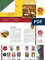 Nalanda Brochure Upated 100418