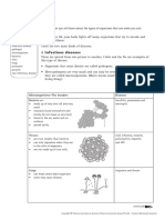 diseases worksheet