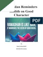 Ramadan Reminder