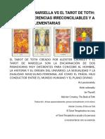 Tarot Terapéutico - Tarot Thoth y Tarot de Marsella