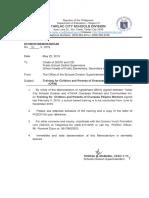 Division Memo No. 111, s. 2019
