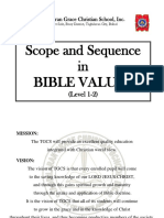 Revised Scope and Sequence of Bible Values