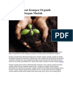 Cara Membuat Kompos Organik Sederhana Dengan Mudah