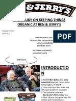 Case Study on Keeping Things Organic at Ben