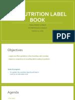 label book presentation