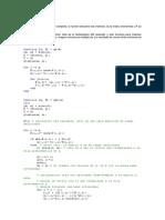 El Código en Matlab QR