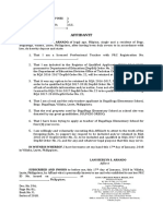 Affidavit for Ranking