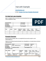 Test Case Format With Example