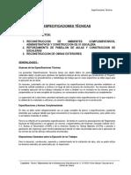 ESPCIFICACIONES TECNICAS  MAYURI
