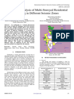 Design and Analysis of Multi-Storeyed Residential Building in Different Seismic Zones