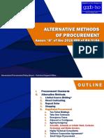 Alternative Methods of Procurement.05142019 RFR
