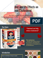 soluble fiber and cholesterol presentation